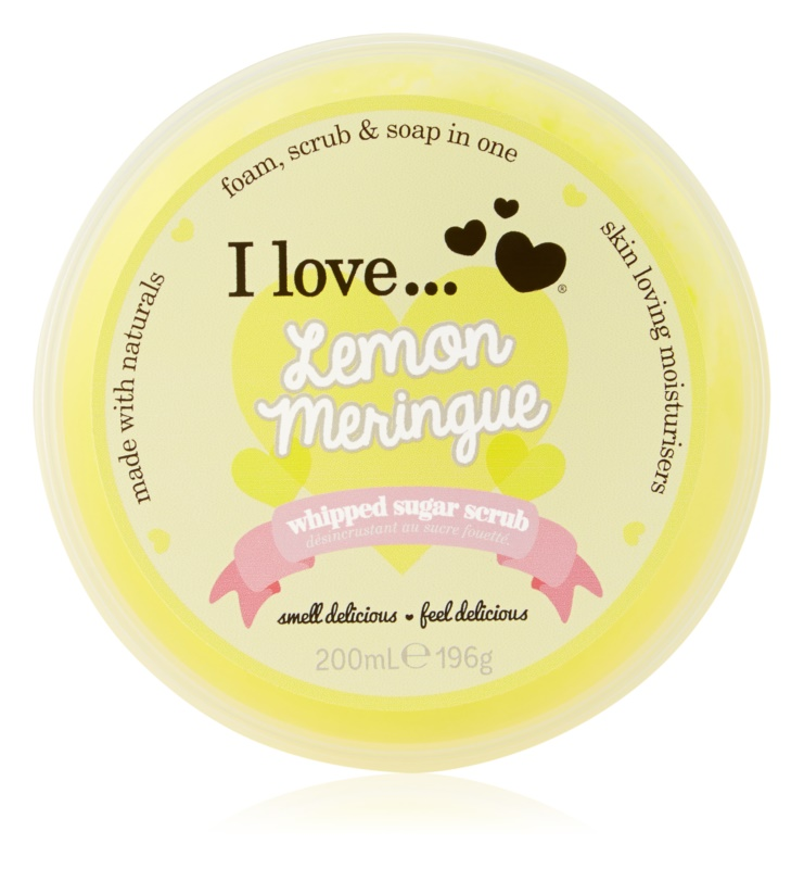 I love... Lemon Meringue exfoliant din zahar