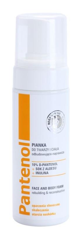 Ideepharm Panthenol espuma regenerativa para rosto e corpo