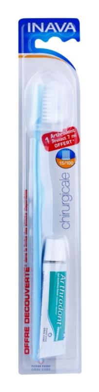 Inava Chirurgicale zubní kartáček po chirurgickém zákroku soft + gelová zubní pasta