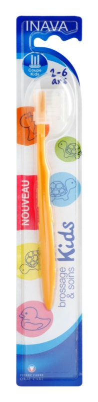 Inava Kids cepillo de viaje para niños con estuche