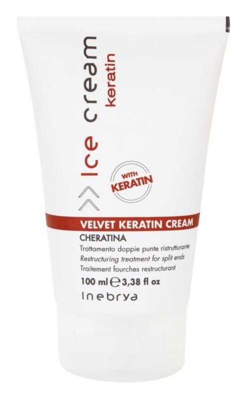 Inebrya Keratin restrukturierende Haar-Creme für fusselige Haarspitzen
