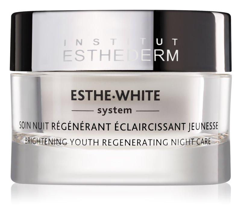 Institut Esthederm Esthe White nočný bieliaci krém s regeneračným účinkom