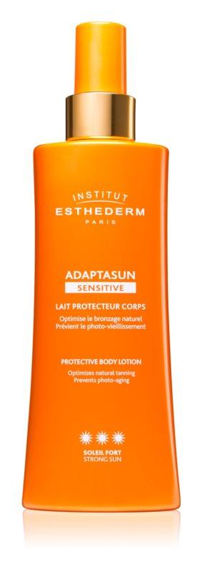 Institut Esthederm Adaptasun Sensitive leite solar protetor com alta proteção UV