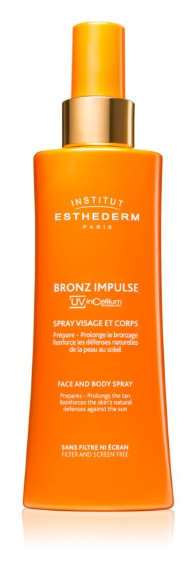 Institut Esthederm Bronz Impulse емульсія у формі спрею для обличчя та тіла для більш швидкої та стійкої засмаги