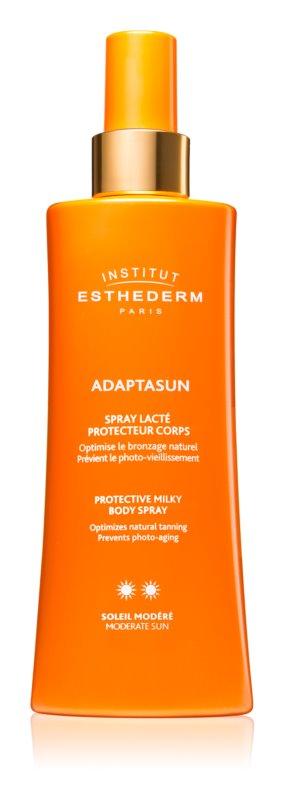 Institut Esthederm Adaptasun захисне молочко для засмаги у формі спрею з середнім ступенем UV захисту