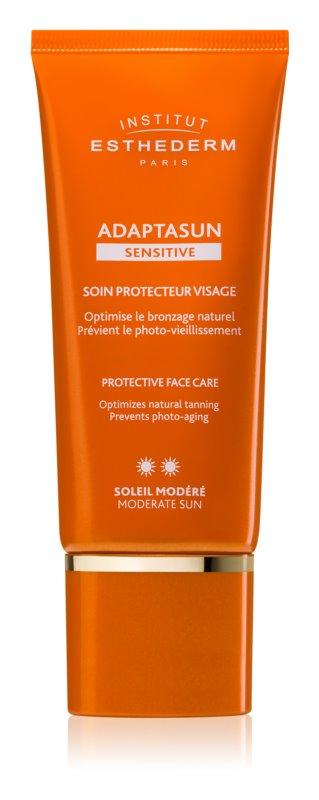 Institut Esthederm Adaptasun Sensitive creme facial protetor com proteção UV média