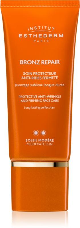 Institut Esthederm Bronz Repair spevňujúci protivráskový krém na tvár so strednou UV ochranou