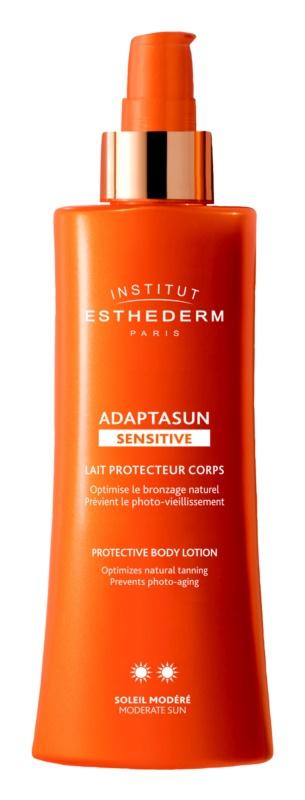 Institut Esthederm Adaptasun Sensitive ochranné opaľovacie mlieko so strednou UV ochranou