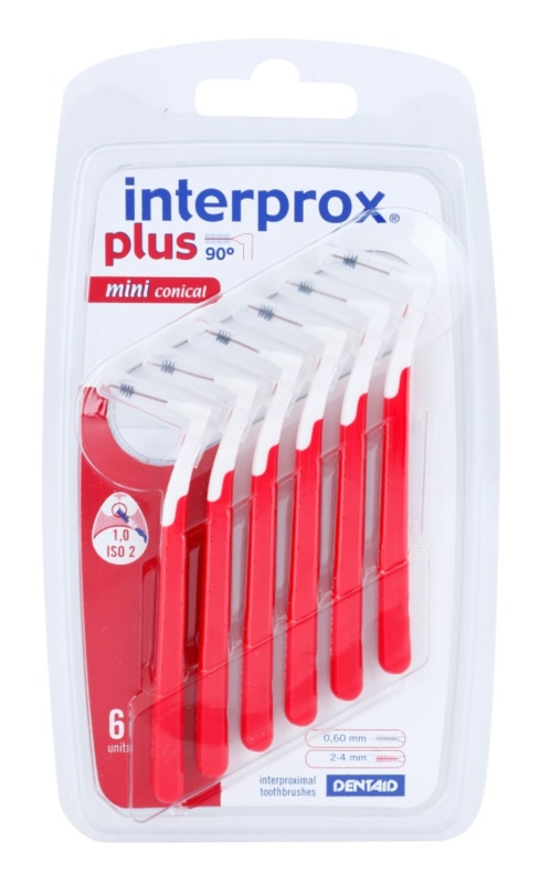 Interprox Plus 90° Mini Conical Conical Interdental Brushes 6 pcs