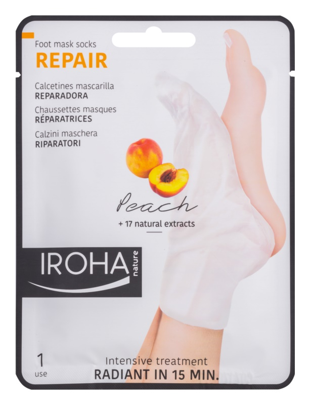 Iroha Repair Peach maseczka  do nóg