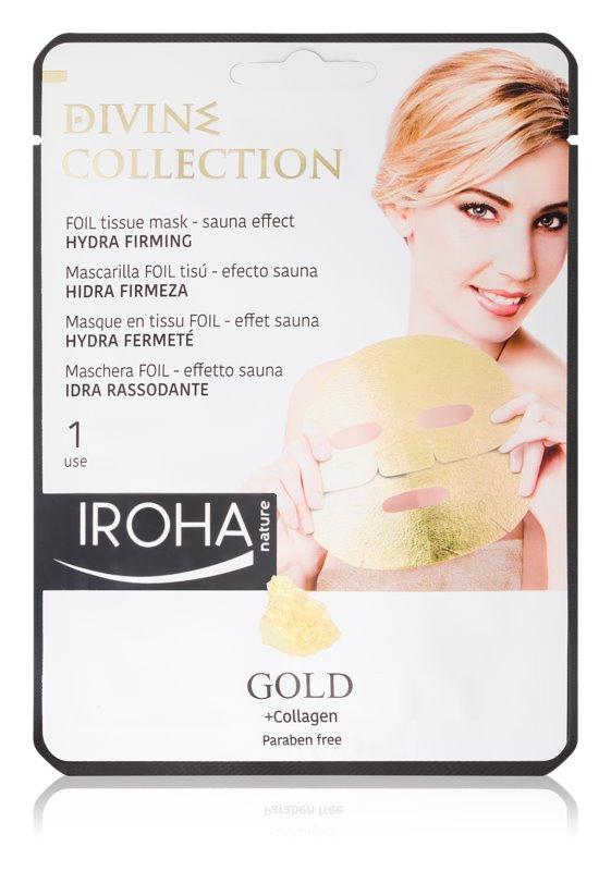 Iroha Divine Collection Gold & Collagen vlažilna in hranilna maska z učvrstitvenim učinkom