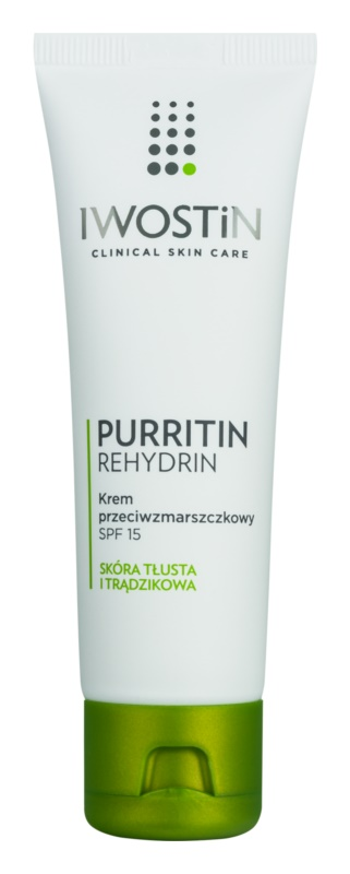 Iwostin Purritin Rehydrin krema proti gubam za mastno k aknam nagnjeno kožo