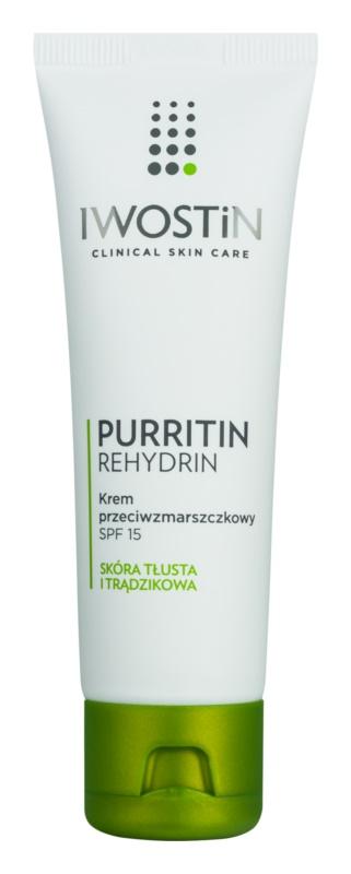 Iwostin Purritin Rehydrin protivráskový krém pre mastnú pleť so sklonom k akné