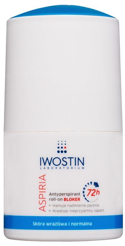 Iwostin Aspiria Antitranspirant Roll-on gegen übermäßiges Schwitzen 72h