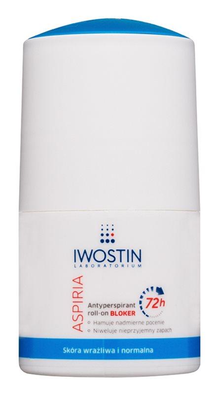 Iwostin Aspiria antitranspirante roll-on para una sudoración excesiva 72h