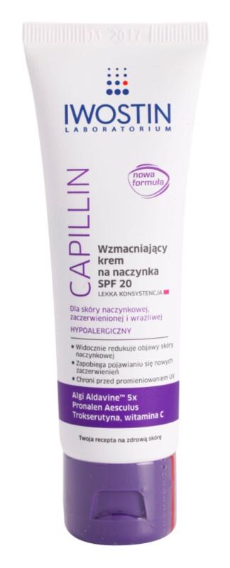 Iwostin Capillin lekki krem wzmacniający na popękane żyłki SPF 20