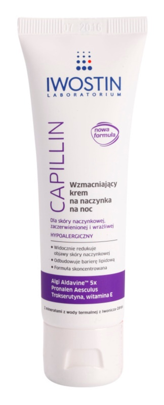 Iwostin Capillin posilňujúci nočný krém na popraskané žilky