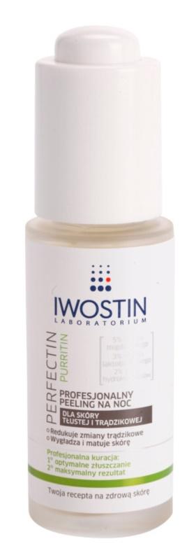 Iwostin Purritin Perfectin gommage de nuit professionnel pour peaux grasses sujettes à l'acné