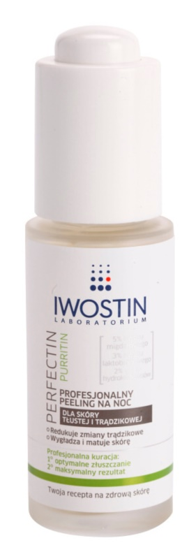 Iwostin Purritin Perfectin Professional Overnigh Exfoliator For Oily Acne - Prone Skin