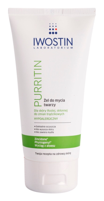 Iwostin Purritin gel za umivanje za mastno k aknam nagnjeno kožo