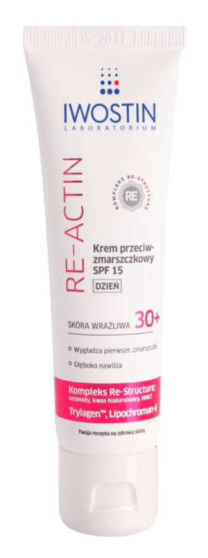 Iwostin Re-Actin crème de jour anti-rides SPF 15