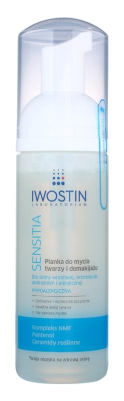Iwostin Sensitia čistilna pena za odstranjevanje ličil za občutljivo in alergično kožo