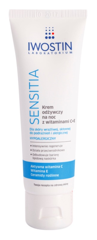 Iwostin Sensitia Nourishing Night Cream with C and E Vitamins For Sensitive And Allergic Skin