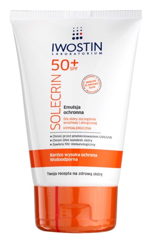 Iwostin Solercin захисна емульсія для чутливої шкіри та шкіри, схильної до алергії  SPF 50+