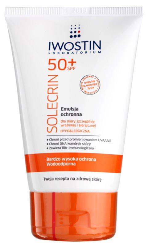 Iwostin Solercin ochranná emulze pro citlivou až alergickou pleť SPF50+