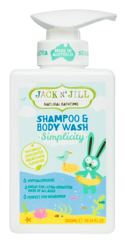Jack N' Jill Simplicity ніжний дитячий гель для душу та шампунь 2 в 1
