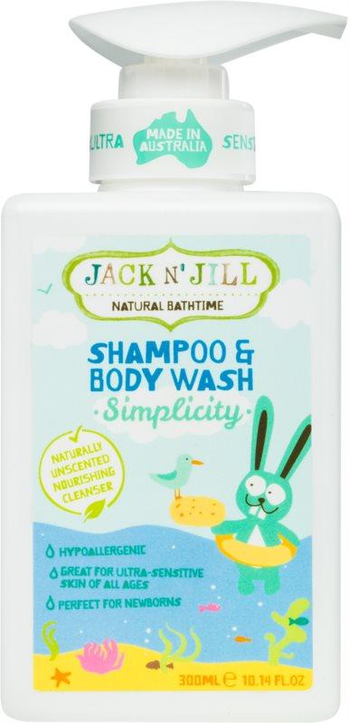 Jack N' Jill Simplicity Sanftes Duschgel und Shampoo für Kinder 2 in 1
