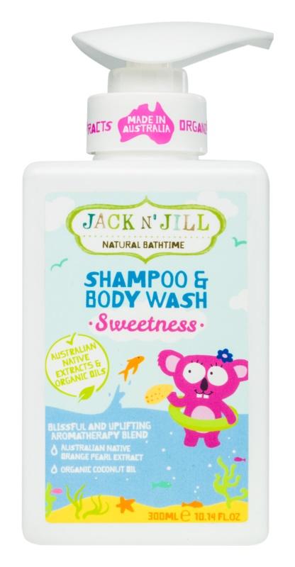 Jack N' Jill Sweetness Gel y champú suaves para niños 2 en 1