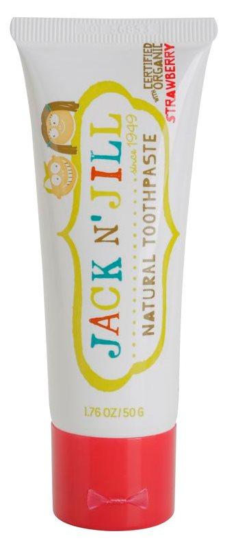 Jack N' Jill Natural dentífrico natural para crianças com sabor de morango