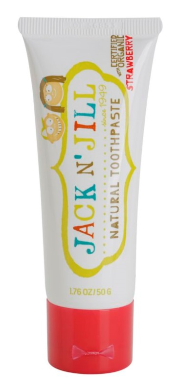 Jack N' Jill Natural натурална детска паста за зъби с аромат на ягода