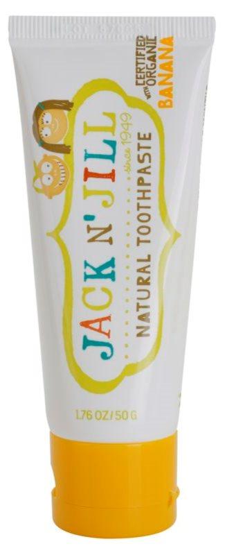 Jack N' Jill Natural pasta de dientes natural para niños con sabor a plátano