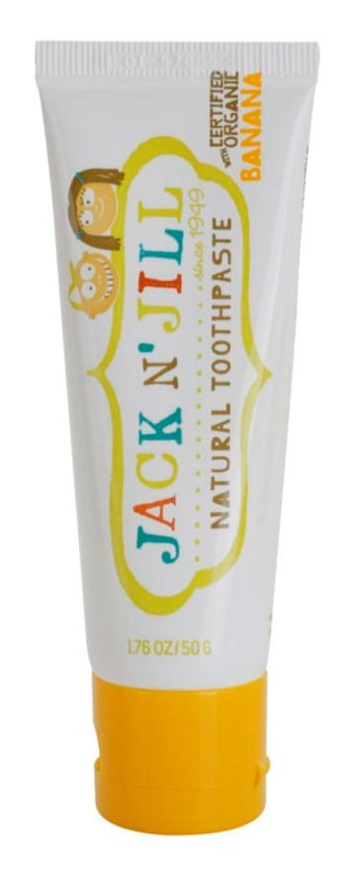Jack N' Jill Natural натурална детска паста за зъби с вкус на банан
