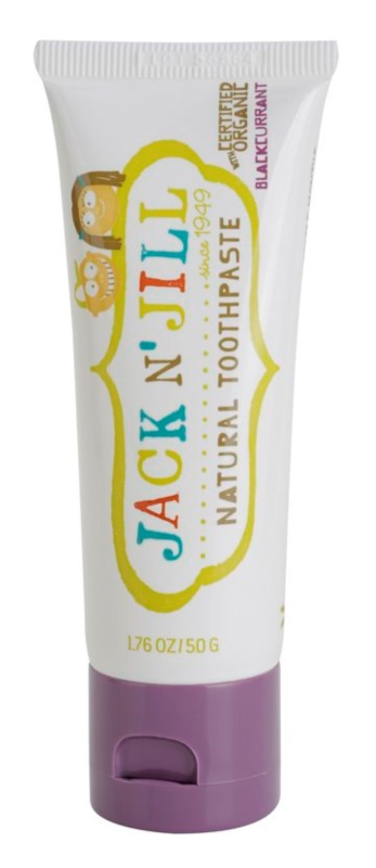 Jack N' Jill Natural dentífrico natural par crianças com sabor a groselha preta