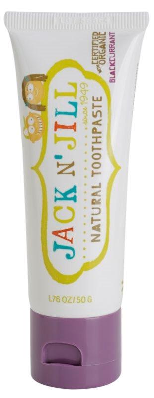 Jack N' Jill Natural pasta de dientes natural para niños con sabor a grosella negra