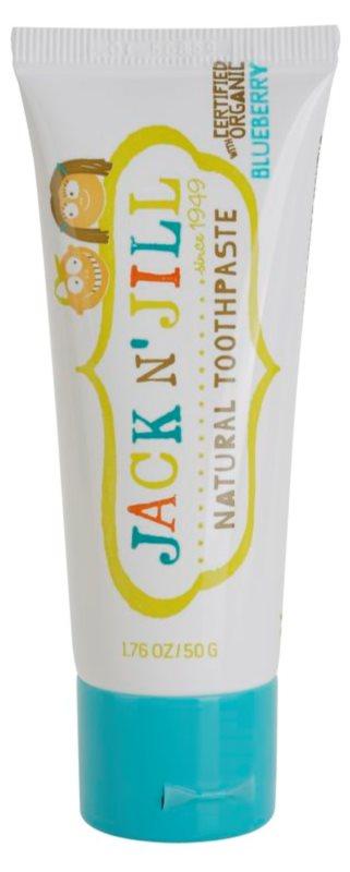 Jack N' Jill Natural prirodna zubna pasta s okusom borovnice