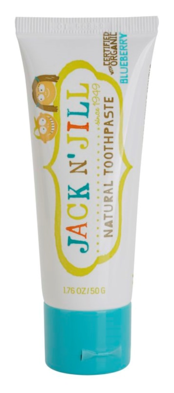 Jack N' Jill Natural φυσική παιδική οδοντόπαστα με γεύση μυρτιλός