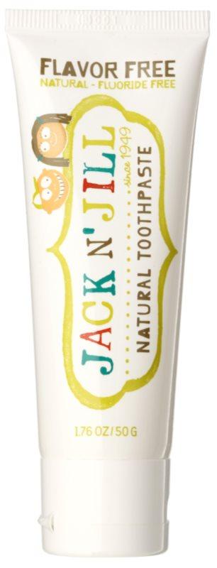 Jack N' Jill Natural naravna zobna pasta za otroke brez okusa