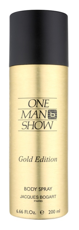 Jacques Bogart One Man Show Gold Edition Körperspray Herren 200 ml