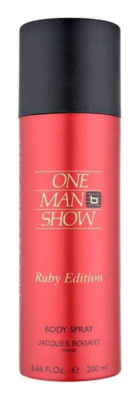 Jacques Bogart One Man Show Ruby Edition Körperspray für Herren 200 ml