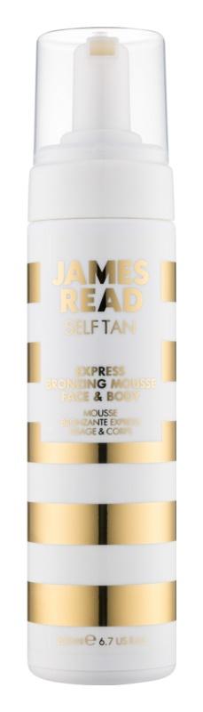 James Read Self Tan espuma bronzeadora com efeito imediato para corpo e rosto