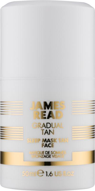 James Read Gradual Tan máscara de noite hidratante com efeito autobronzeador para rosto