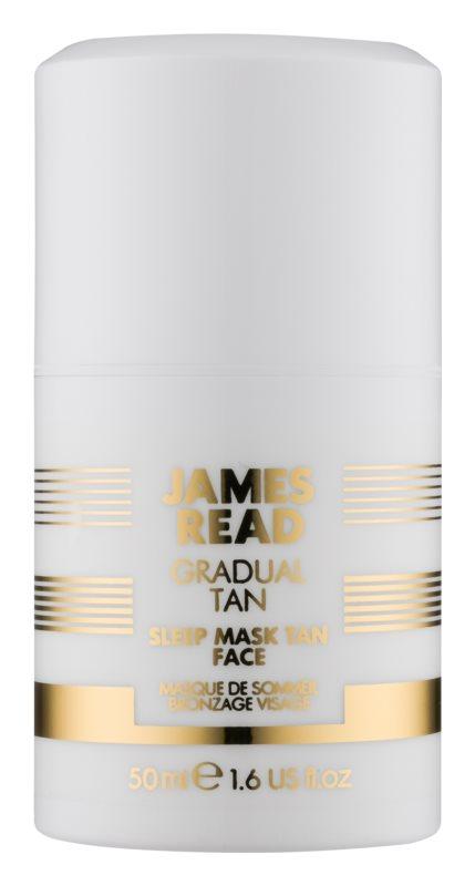 James Read Gradual Tan maschera idratante autoabbronzante notte per il viso