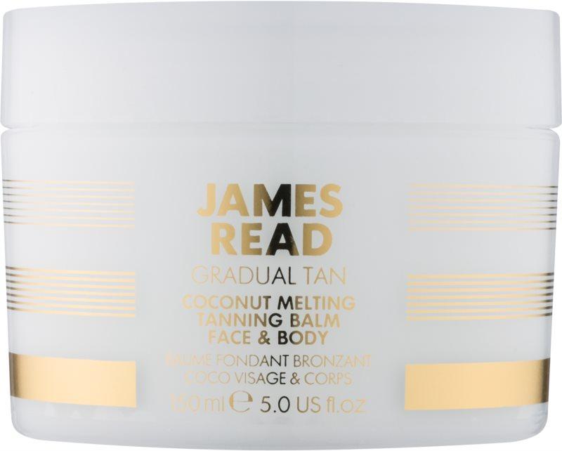 James Read Gradual Tan crème auto-bronzante corps et visage à l'huile de coco