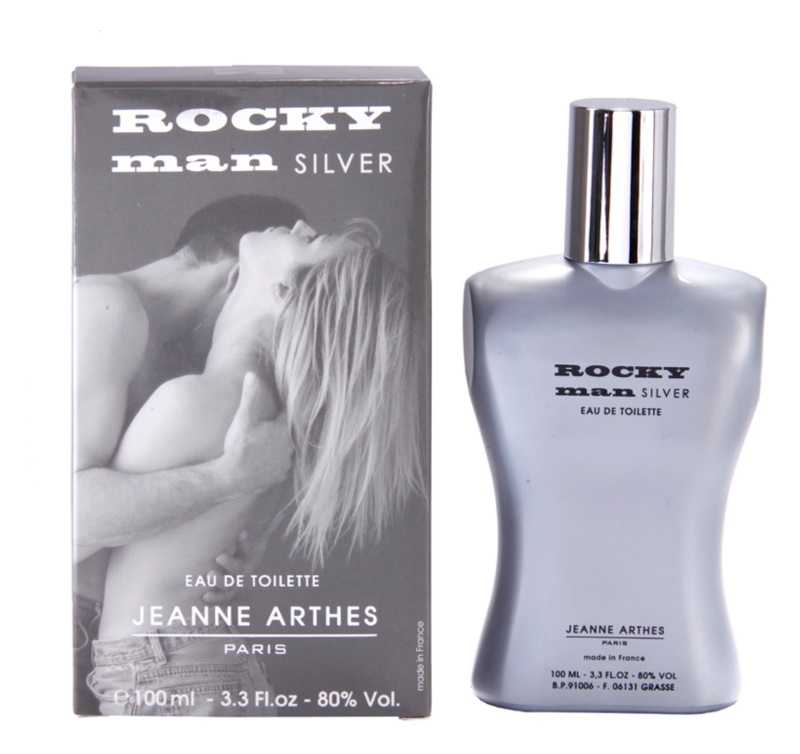 Jeanne Arthes Rocky Man Silver Eau de Toillete για άνδρες 100 μλ
