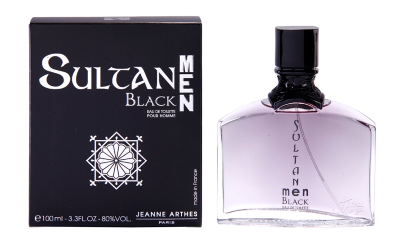 Jeanne Arthes Sultane Men Black Eau de Toilette for Men 100 ml