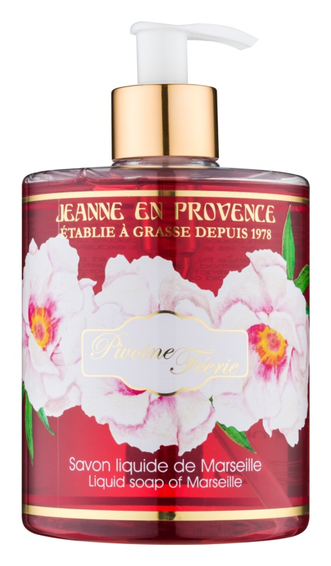 Jeanne en Provence Pivoine Féerie flüssige Seife für die Hände Pfingstrose